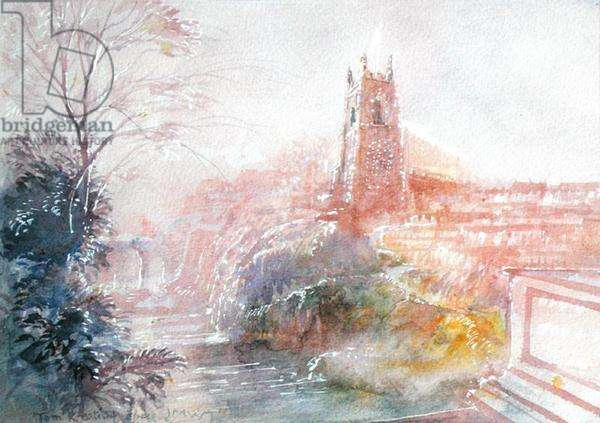 Landscape in the manner of Joseph Mallord William Turner (1775-1851) (w/c on paper)