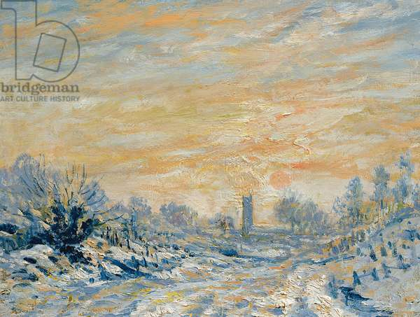'Dedham' in the Style of Claude Monet (1840-1926) (oil on canvas)