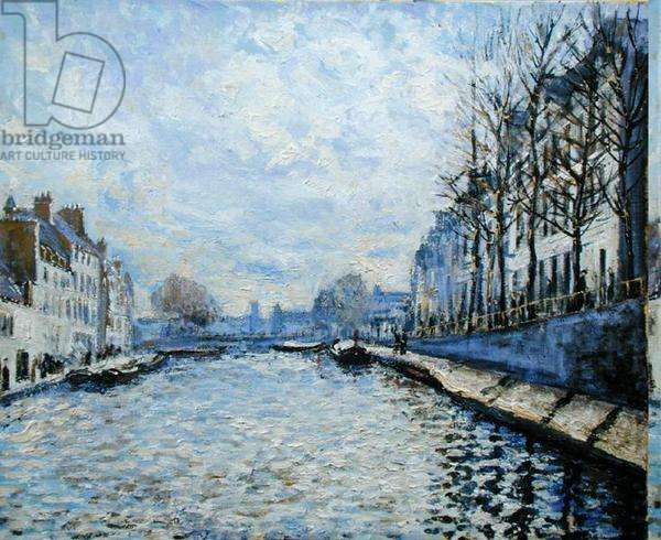 'The Seine, Paris', in the manner of Alfred Sisley (1839-99) (oil on canvas)