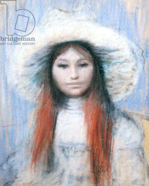 Portrait of a Girl, in the manner of Pierre Auguste Renoir (1841-1919) (pastel on paper)