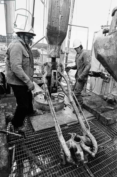 Switzerland Bern Zealand Natural Gas Drilling, 1974 (b/w photo)
