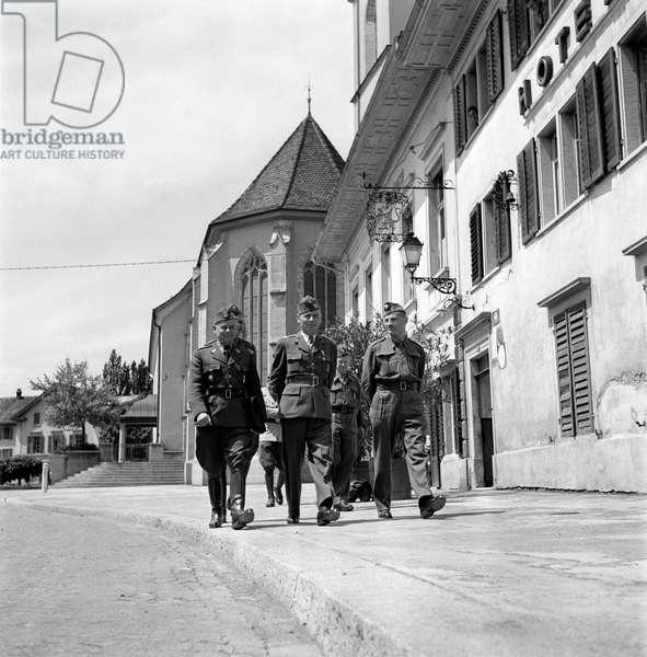 Switzerland World War II International Poland, 1945 (b/w photo)