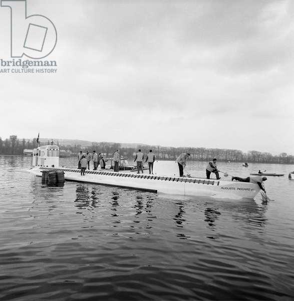 "Switzerland Expo 64 ""Mesoscaphe"", 1964 (b/w photo)"