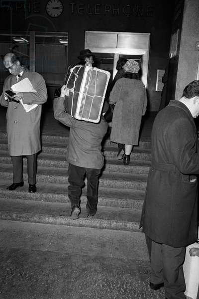 Switzerland Italian Guest Workers, 1963 (b/w photo)