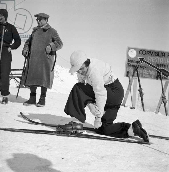 Switzerland Leni Riefenstahl (b/w photo)