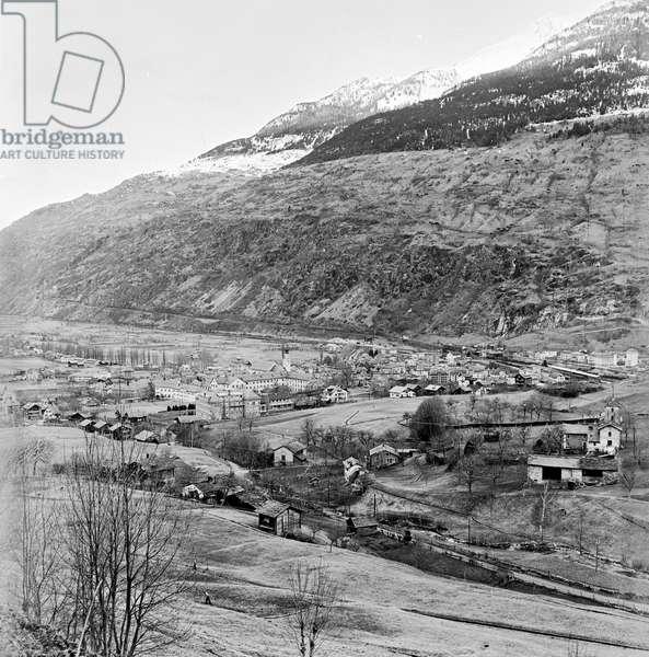 Switzerland Wallis Brig, 1956 (b/w photo)
