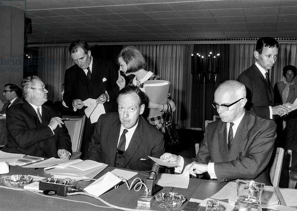 Switzerland Efta Conference, 1967 (b/w photo)