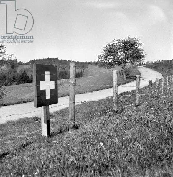 Switzerland World War II Limit Bargen, 1945 (b/w photo)