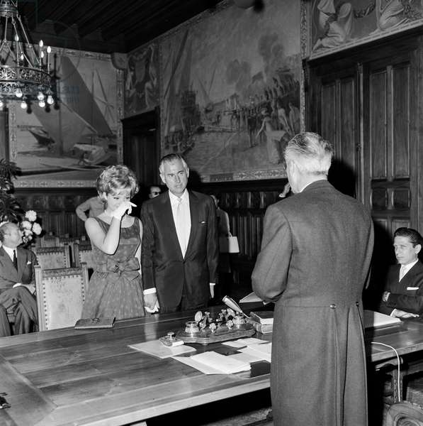 Switzerland Geneva Wedding Granger Lecerf, 1964 (b/w photo)
