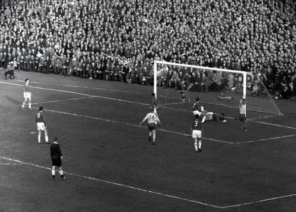 Football World Cup, 1962 Qualifying Che Swe (b/w photo)