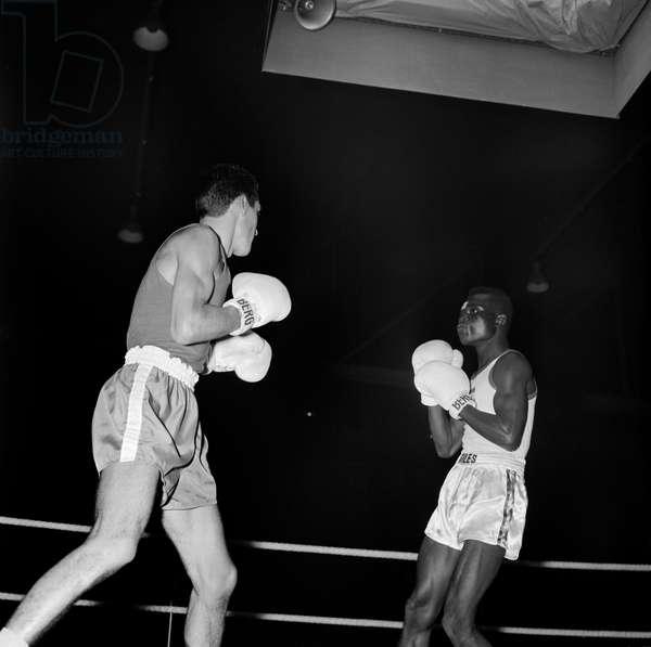 Switzerland Boxing Che Gha, 1960 (b/w photo)