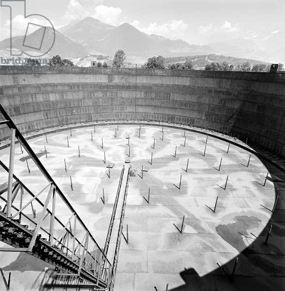 Switzerland Refinery Collombey, 1961 (b/w photo)