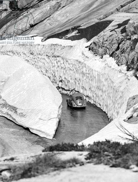 Switzerland Grimsel Pass, 1956 (b/w photo)