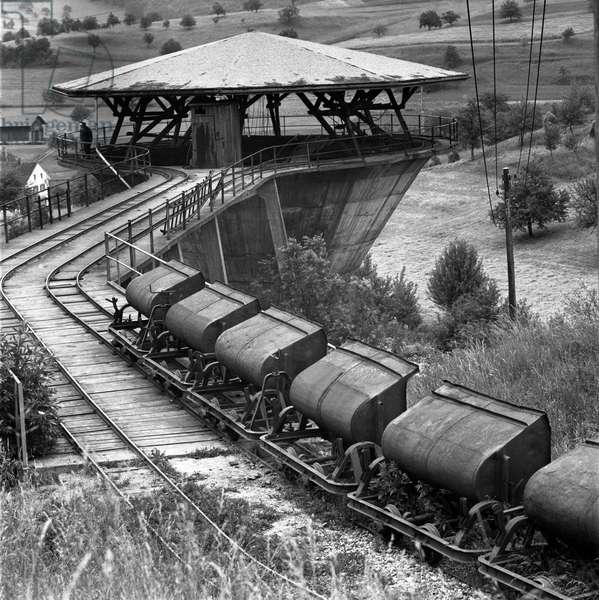 Switzerland Iron Mine Herznach, 1967 (b/w photo)