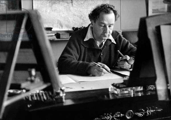 Switzerland Music Arthur Honegger (b/w photo)