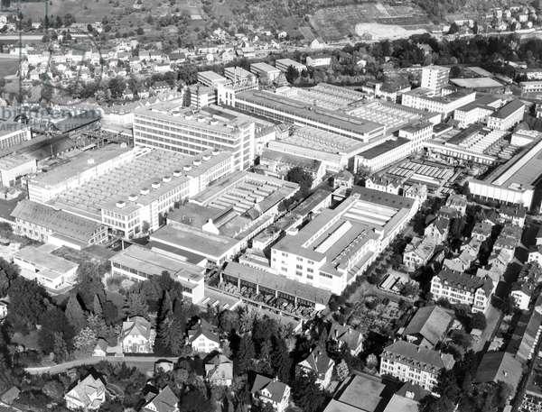 Switzerland Mechanical Engineering Bbc, 1962 (b/w photo)