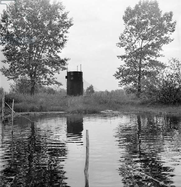 Switzerland Lake Swamp Gas, 1942 (b/w photo)