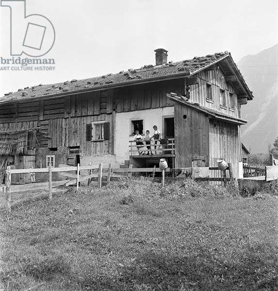 Switzerland Stadler Family House, 1942 (b/w photo)