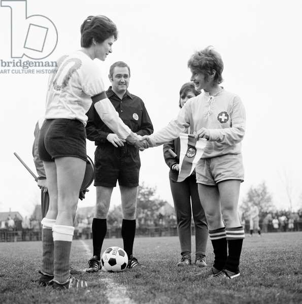 Football Game National Women Che Aut, 1970 (b/w photo)