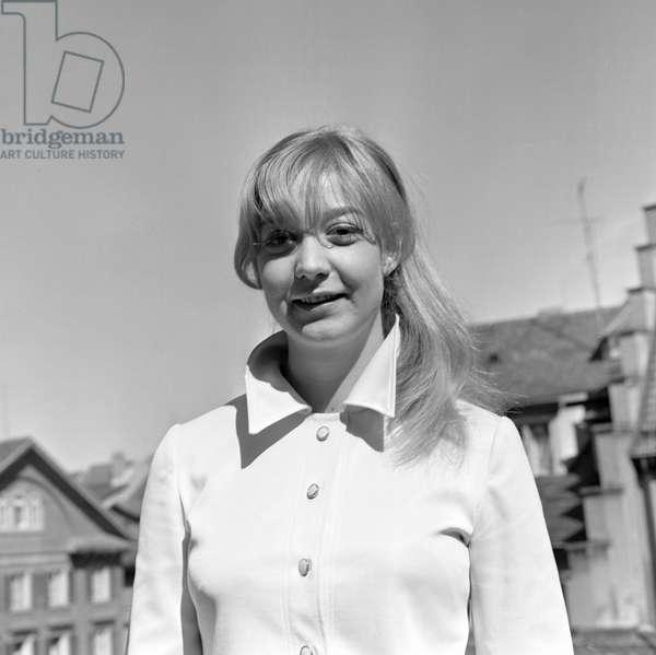 Switzerland Theater Franziska Kohlund, 1969 (b/w photo)