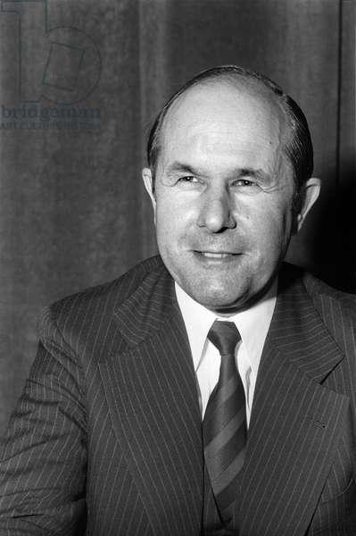 Switzerland Robert A. Jeker, 1977 (b/w photo)