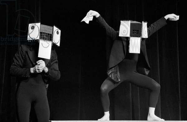 Switzerland Theatre Mummenschanz, 1979 (b/w photo)