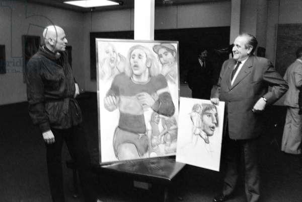 Switzerland Culture Mario Comensoli, 1980 (b/w photo)