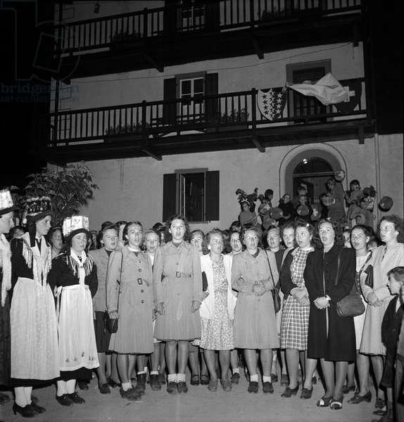 Switzerland Federal Party 1944, 1944 (b/w photo)