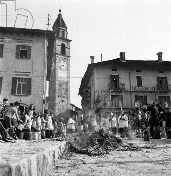 Switzerland Easter Tradition, 1942 (b/w photo)