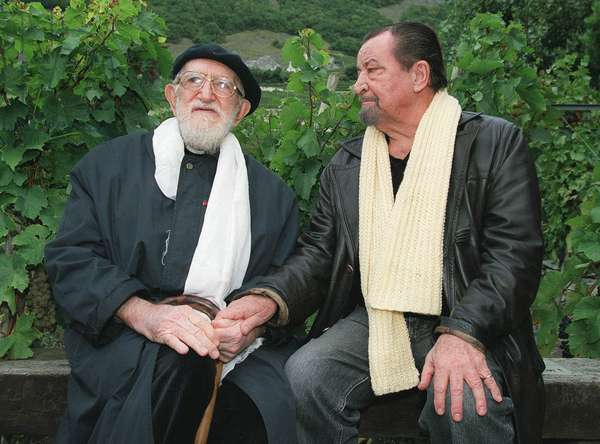 L'Abbe Pierre et Maurice Bejart 1999