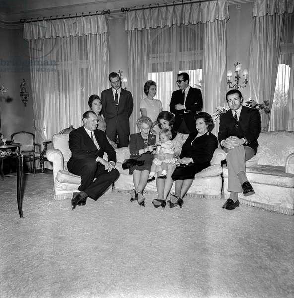Switzerland Adel Juan Carlos, 1965 (b/w photo)