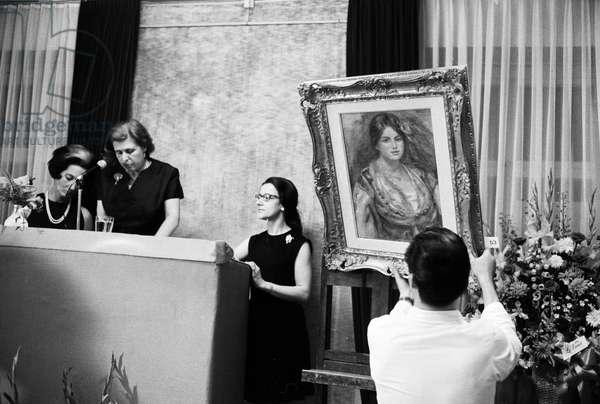 Switzerland Auction Pierre-Auguste Renoir, 1970 (b/w photo)
