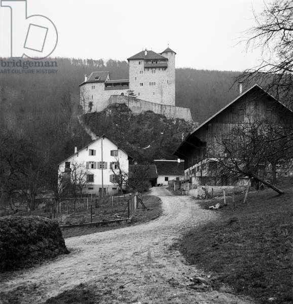 Switzerland Youth Hostel Burg Rotberg, 1940 (b/w photo)