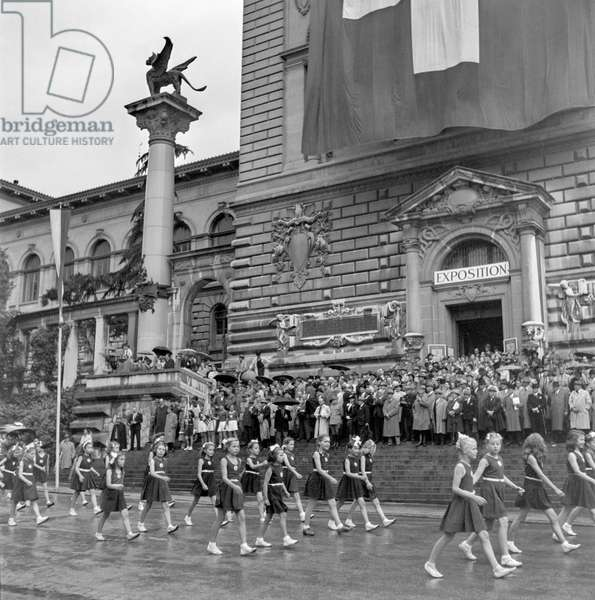 Switzerland Ioc 50 Years Anniversary, 1944 (b/w photo)