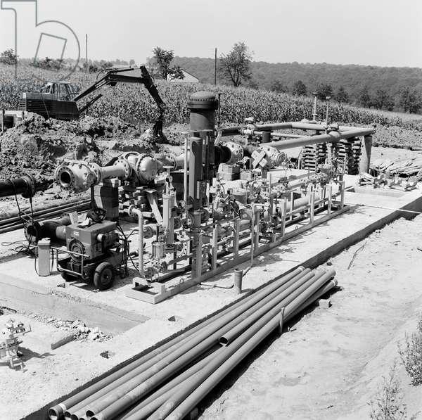 Switzerland Basel Natural Gas, 1971 (b/w photo)