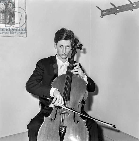 Switzerland Music Rocco Filippini (b/w photo)