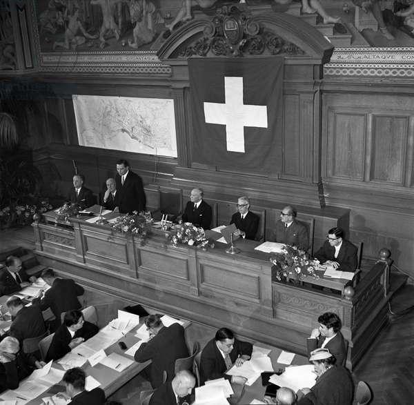 Switzerland Lausanne Expo 64, 1958 (b/w photo)