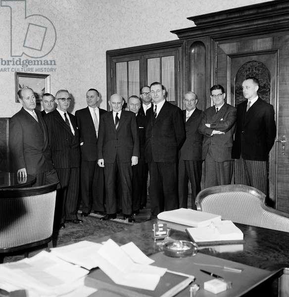 Switzerland Federal Ludwig Von Moos, 1960 (b/w photo)