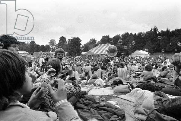 Switzerland Gurtenfestival, 1979 (b/w photo)