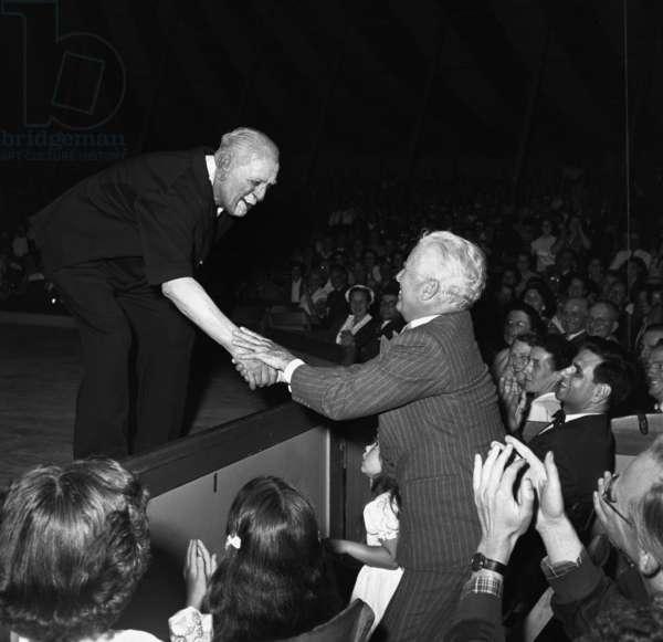 Le clown Grock et Charlie Chaplin