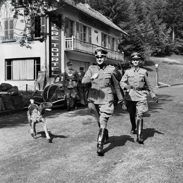 Switzerland World War II Limit Vallorbe, 1944 (b/w photo)