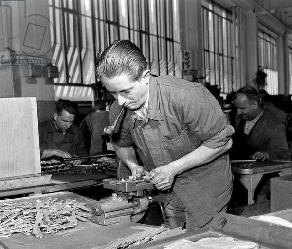 Switzerland Mechanical Engineering Bbc, 1955 (b/w photo)