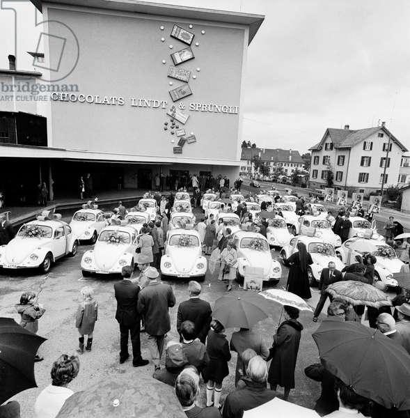 Switzerland Spruengli Anniversary, 1970 (b/w photo)