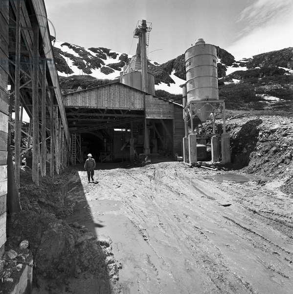 Switzerland Tunnel Great St. Bernhard, 1960 (b/w photo)