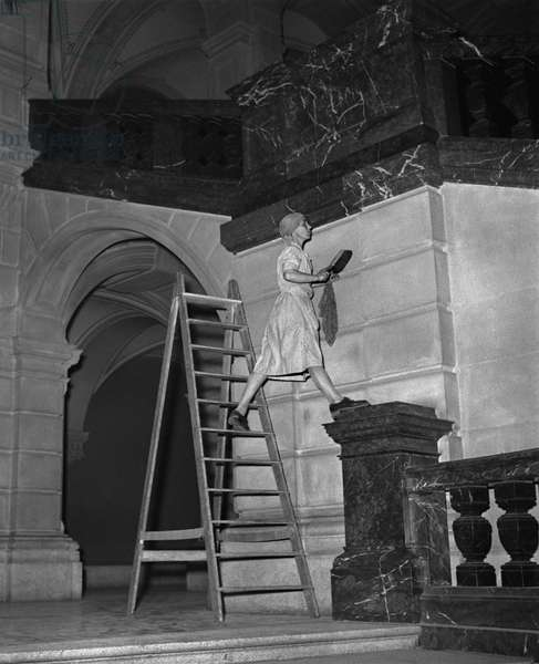 Switzerland Federal House Cleaning (b/w photo)