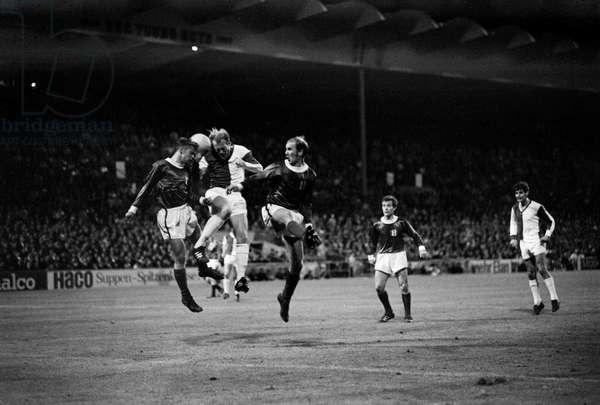 Switzerland Soccer Fcz Gc, 1968 (b/w photo)