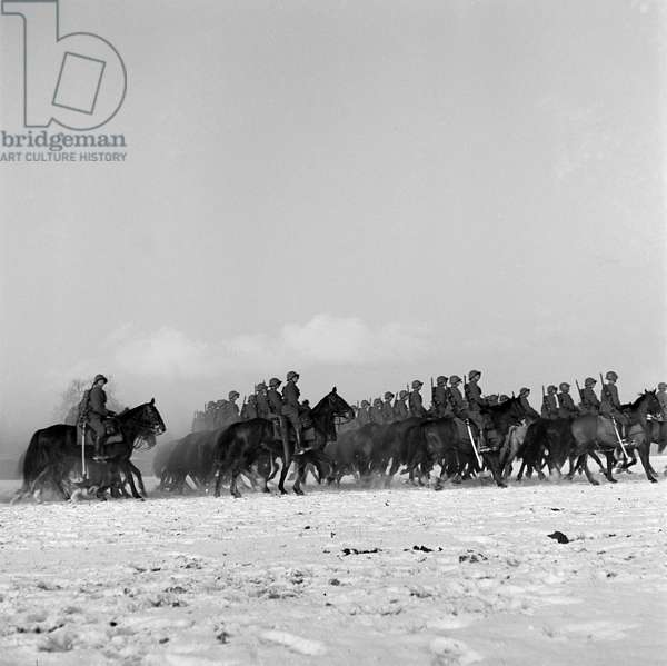 Switzerland Military Cavalry, 1941 (b/w photo)