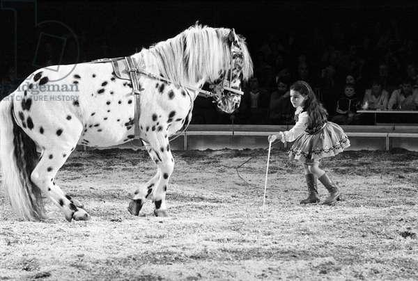 Switzerland Circus Knee, 1979 (b/w photo)