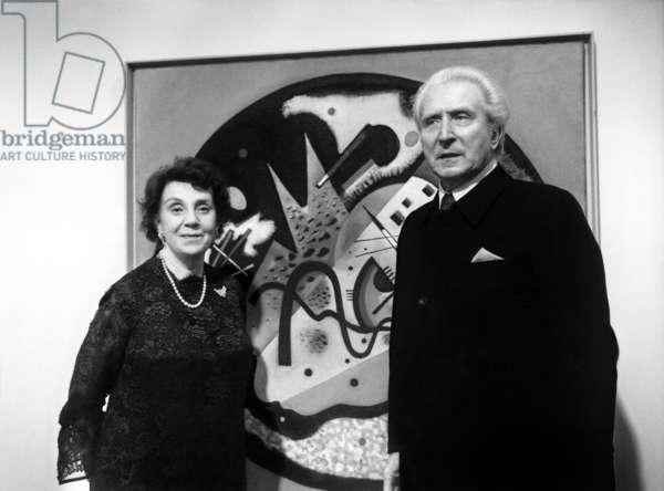 Nina Andreievskaia Kandinsky, 1972 (b/w photo)