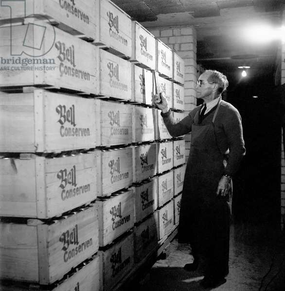 Switzerland Emergency Supply In, 1945 (b/w photo)